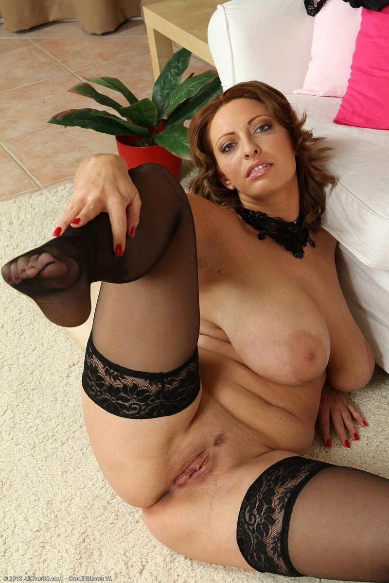 stockings Curvy wife