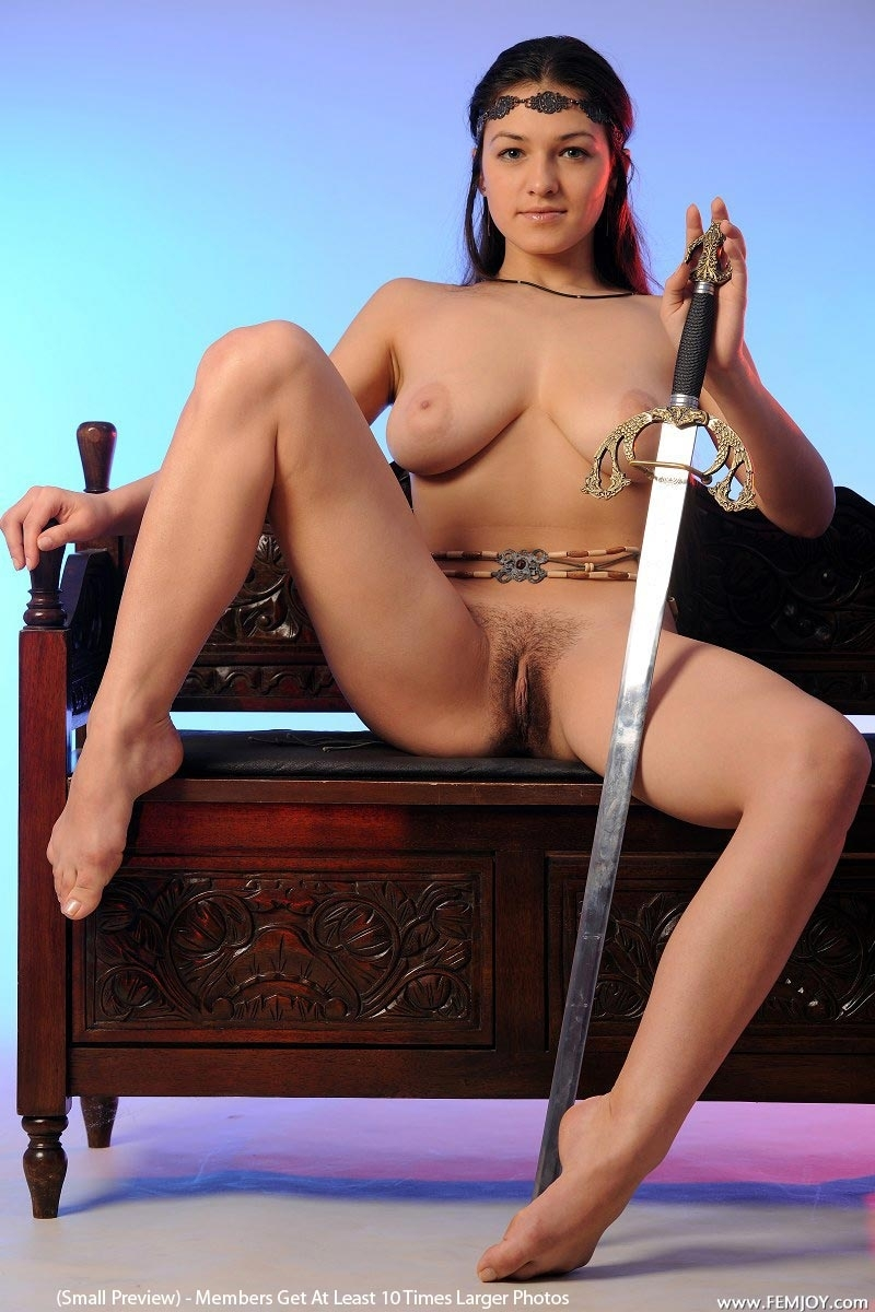 naked girls with swords