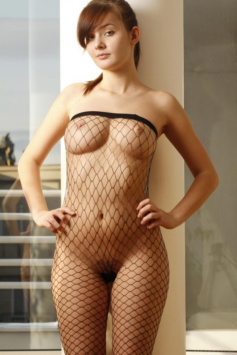 Nude Girl With Fish Net