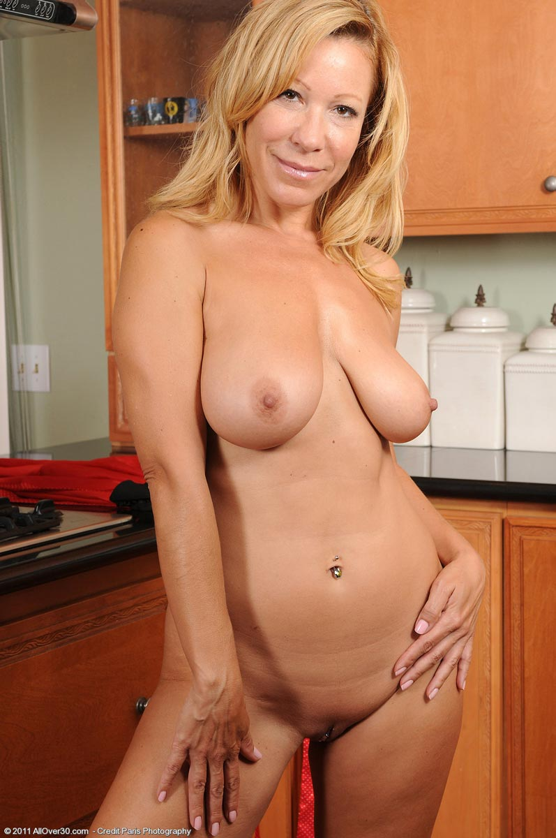 Mature blonde housewife