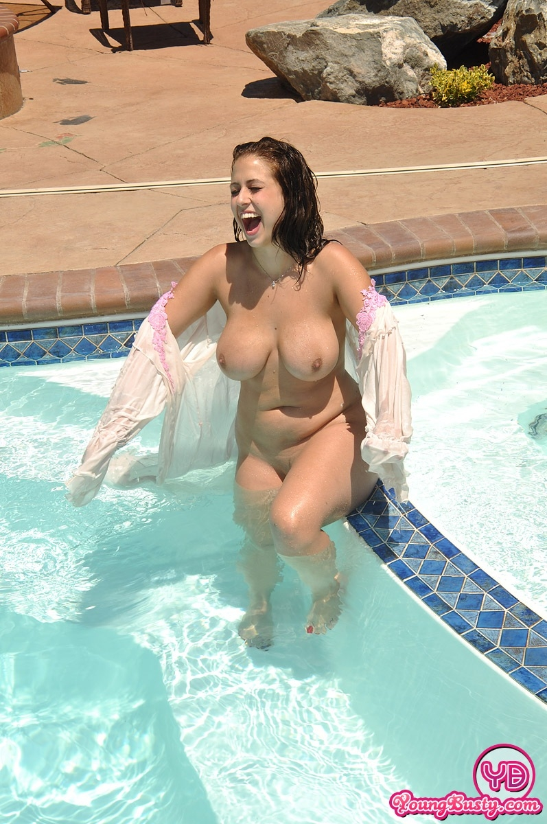 Nude swimming pool naked