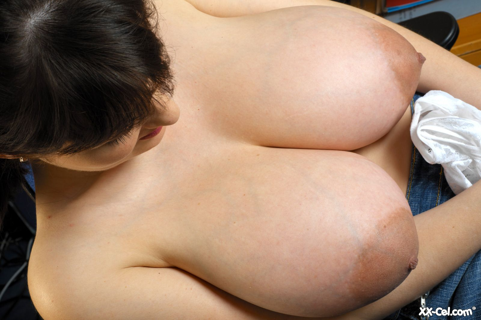 Enormous breasts with huge lactating nipples