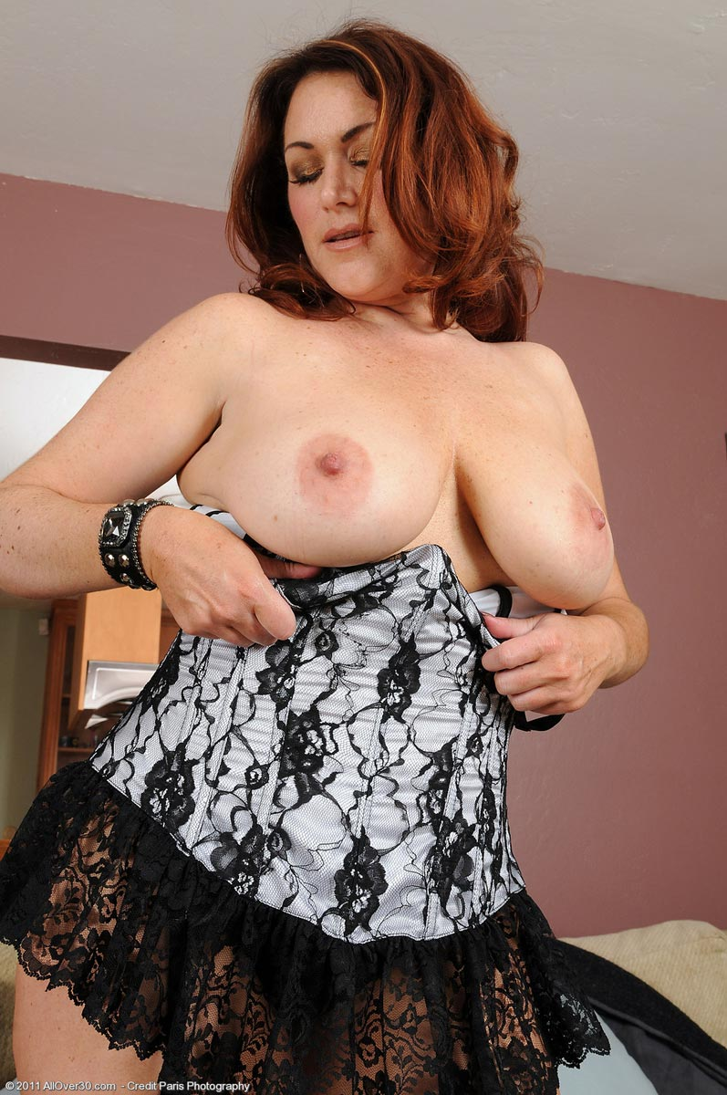 Busty milf stockings