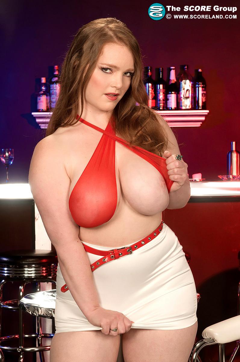 Big tits waitress