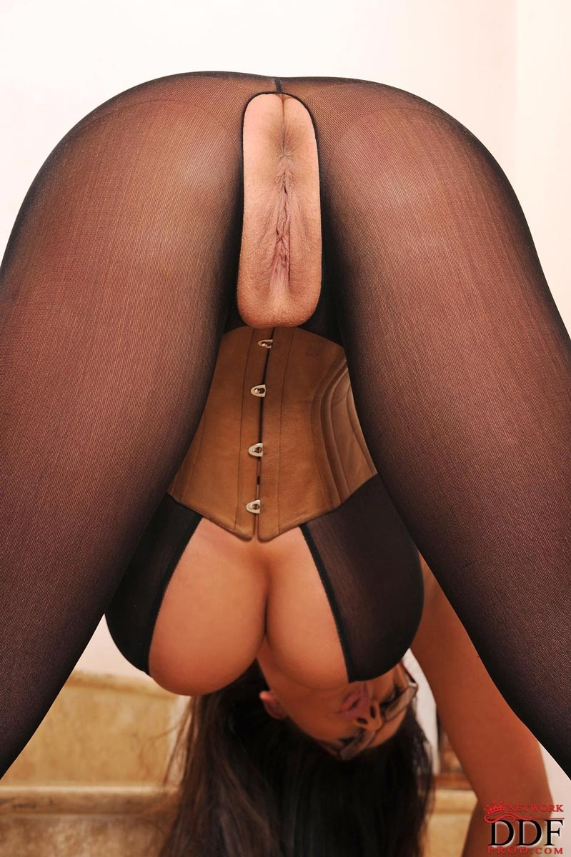 Ass stockings nylons pantyhose was