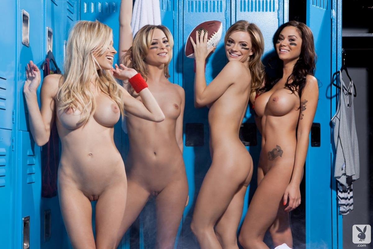Naked girls in a locker room