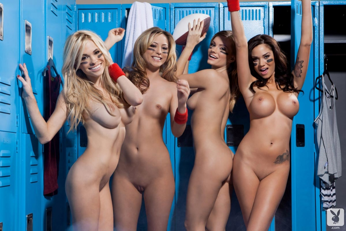 Hot cheerleaders locker room think, that