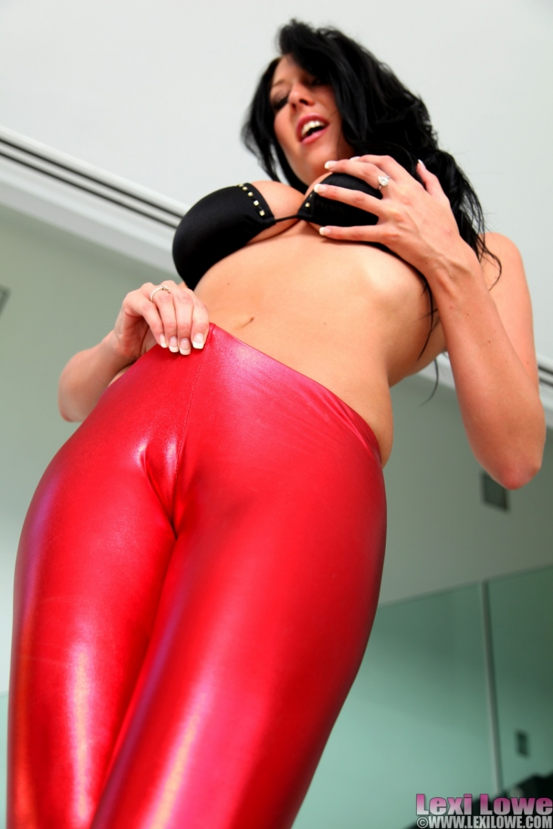 Latex pussy pants