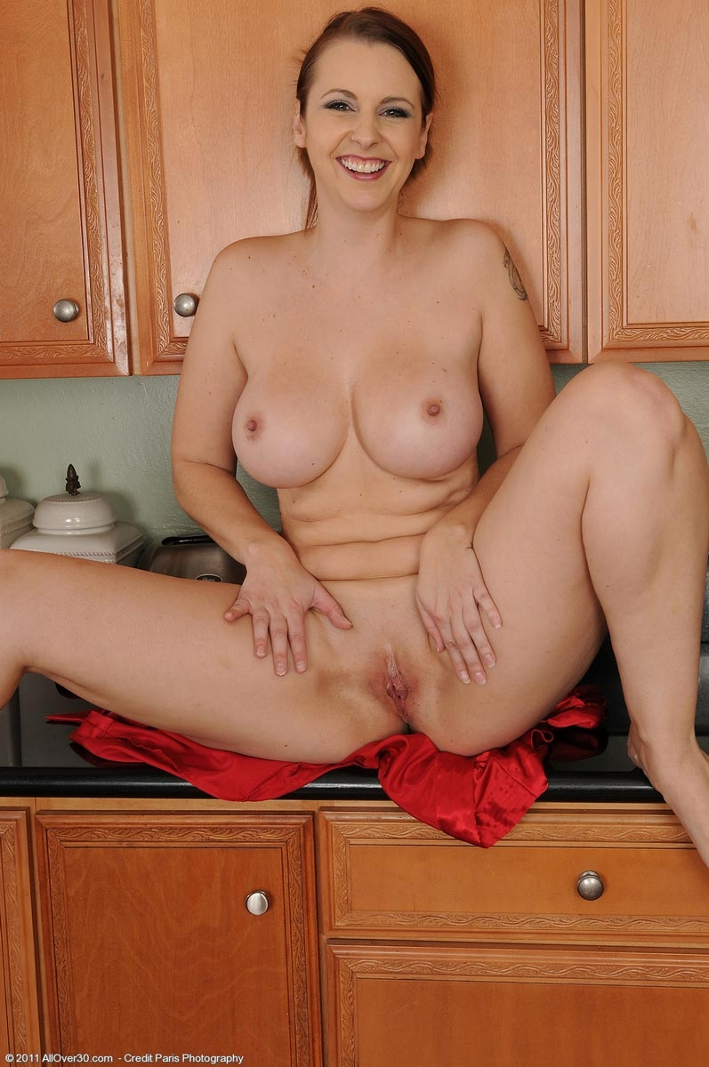 naked milf in robe