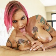 Anna Bell Peaks Busty Inked Babe Teasing Dick