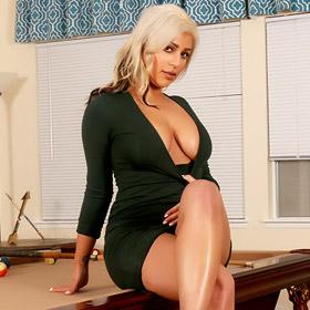 Briana Lee in a Classy Black Dress