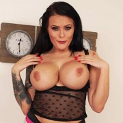 Charlie Atwell Busty Brunette in Lingerie