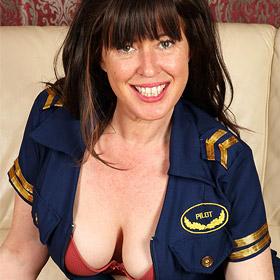 Janey Cougar in Sexy Uniform