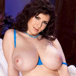 Karina Hart in Blue Lingerie