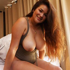 Mercedes Llano Cute Busty Girl Strips