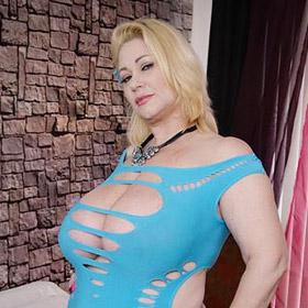 Samantha in a Tight Blue Dress