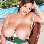 Terri Jane Strips by the Pool