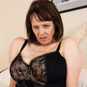 Tigger Strips off her Black Lingerie